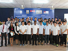 Welcome to the fifth study tour of student from Institute of Technical Education in Singapore to Asia Euro University