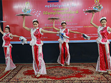 Dancers from Ha Eu Bin University Performed at Asia Euro University to Welcome Khmer New Year