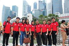 The Student-delegation of Asia Euro University Pays a Study Visit to Singapore