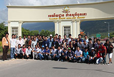 AEU's Students Took Study Tour to the Seaside Resorts of Cambodia